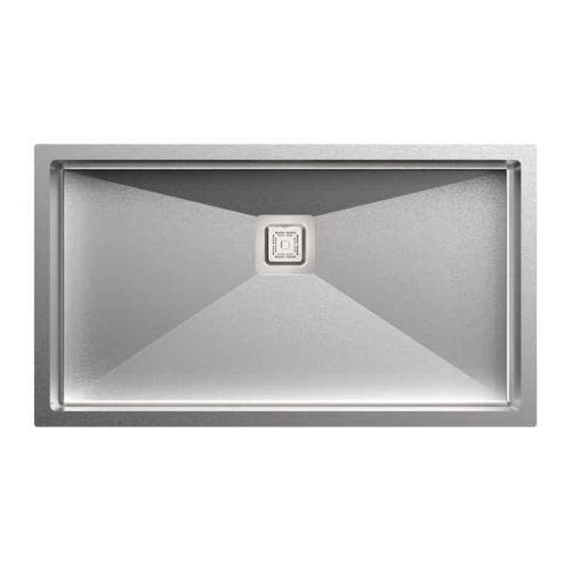 Carysil Micro Radius R10 Single Bowl Stainless Steel Matt Finish Kitchen Sink, Size: 31x17x9 inch