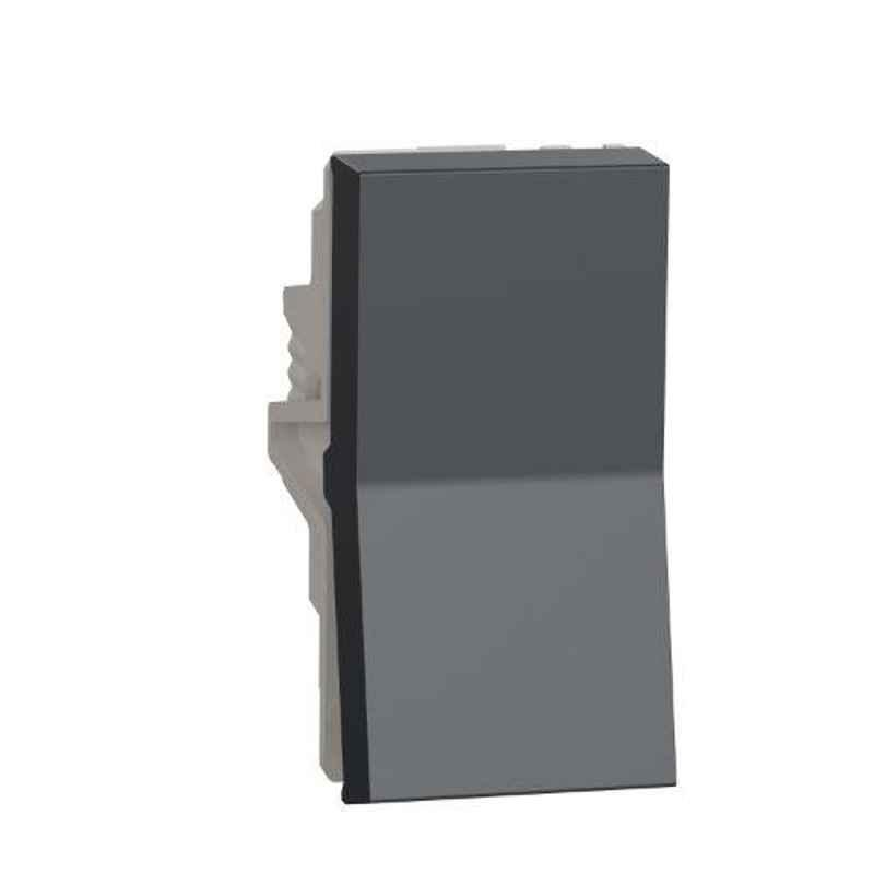 Schneider Unica Pure 6A 1 Module Volcanic Grey Switch, UNS61SW1M_GY (Pack of 20)
