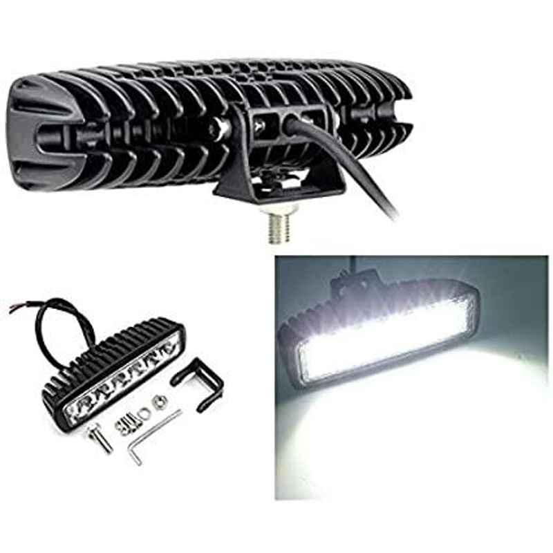 AOW 6 Led Bar Auxillary Bike Fog Lamp Spot Lamp 18W (Pack of 1) for TVS Scooty Teenz
