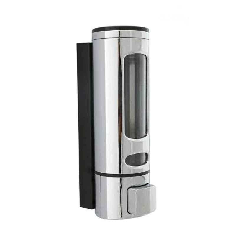Drizzle Capsule Plastic Silver Liquid Soap Dispenser, ACAPSULEDISPCHROME