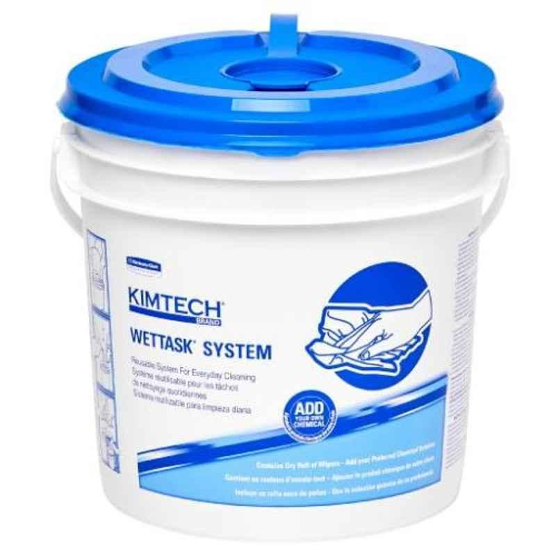 Kimtech 60 Sheets 31.5x30.5cm Sanitizing Wipes Roll with Bucket, 30914 (Pack of 6)