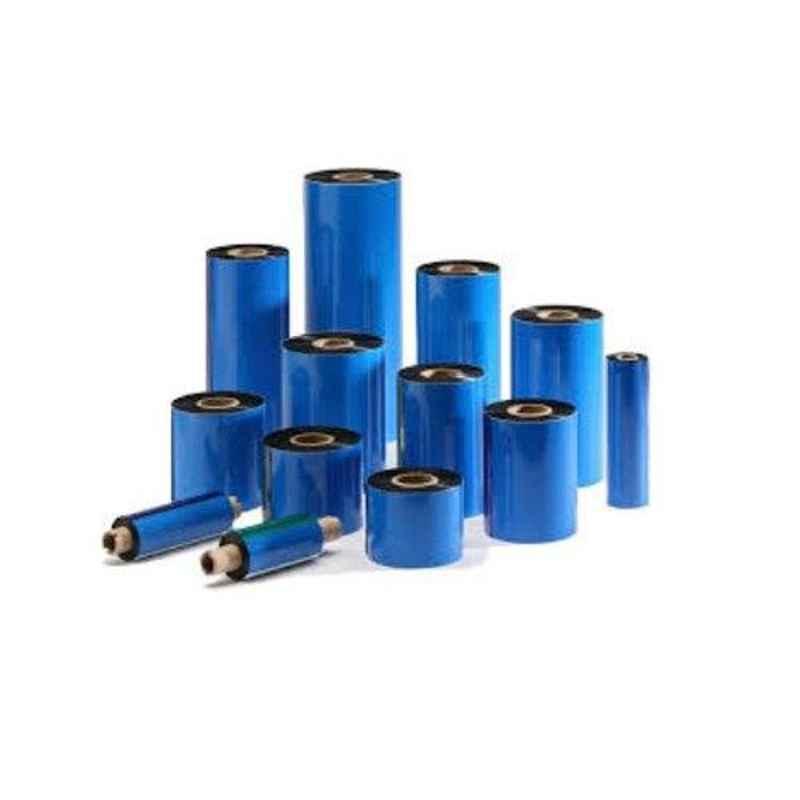 Bhardwaj 80mm Wax Resin Blue Thermal Transfer Barcode Ribbon, Length: 300 m