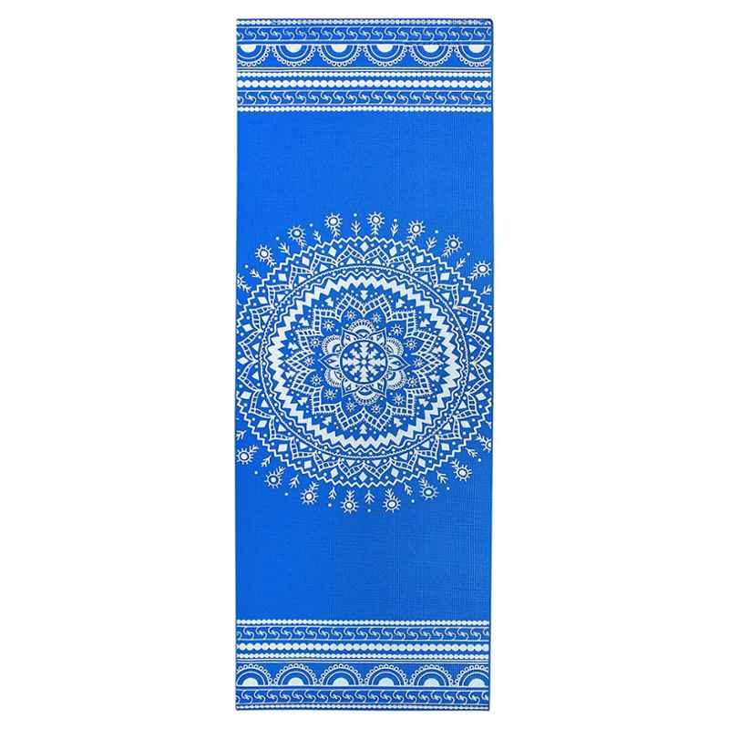Strauss 1730x610x5mm Navy Blue Designer Yoga Mat with Cover, ST-1414