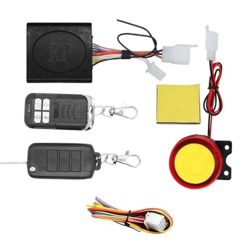 AllExtreme EXABSA1 12V Compact Security Alarm System with Dual Remote Control Engine Start