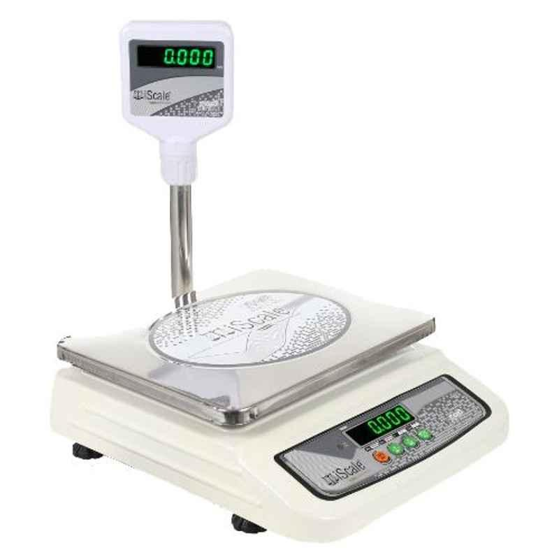 iScale i-05 10kg and 1g Accuracy Electronic Weighing Scale with Pole and Green Colour Display and SS Pan
