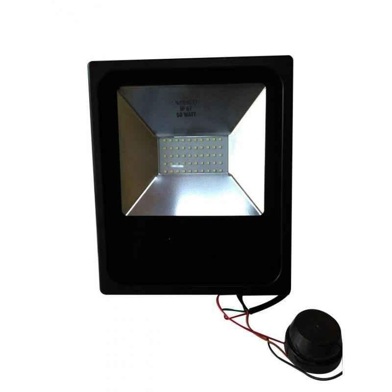 Jayco 50W 6500K Day Night Sensor LED Flood Light, SESFL50DNCW