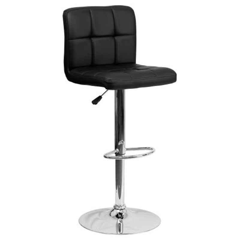 Steelcraft KBSTB02 Black Leatherette Upholstery Seat Bar Stool