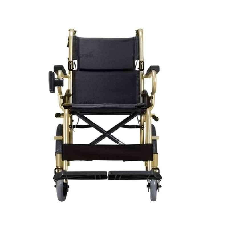 Karma KM-2500 890x530x860mm Champagne Aluminium Foldable Wheelchair