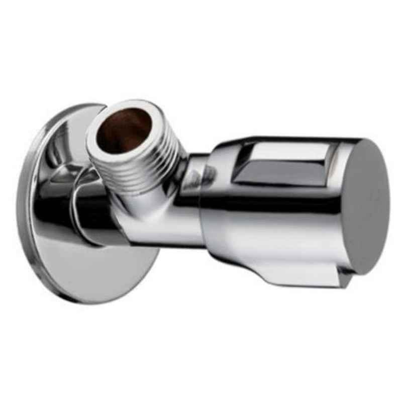 Drizzle Victor Brass Chrome Finish Silver Angle Valve, AANGLEVICTOR