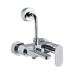 Jaquar Opal Prime Full Gold Single Lever Wall Mixer 3-in-1 System with Legs & Wall Flange, OPP-GLD-15125PM
