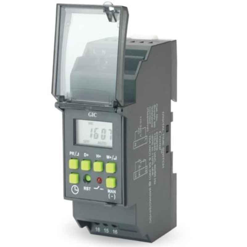 GIC Crono 6VA 1 C/O Black Digital Time Switch, 67DDT0