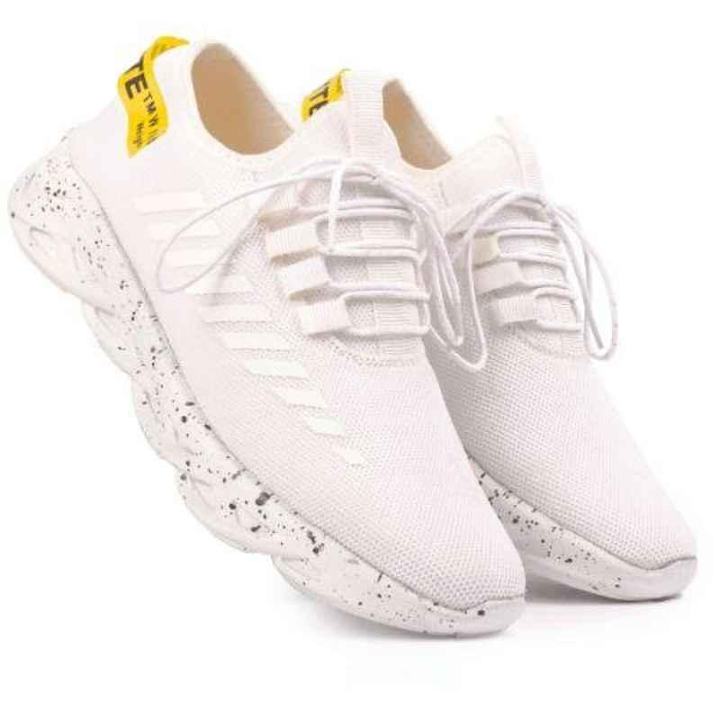 Mr Chief 6678 White Smart Sports Running Shoes, Size: 8