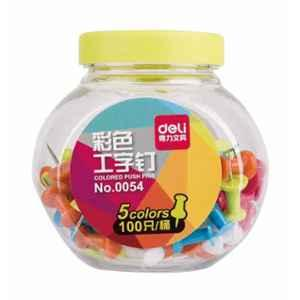 Deli Colored Push Pins, 54 (Pack of 10)