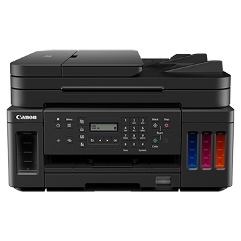 Canon Pixma G7070 Refillable Ink Tank Wireless All-in-One Printer with Fax