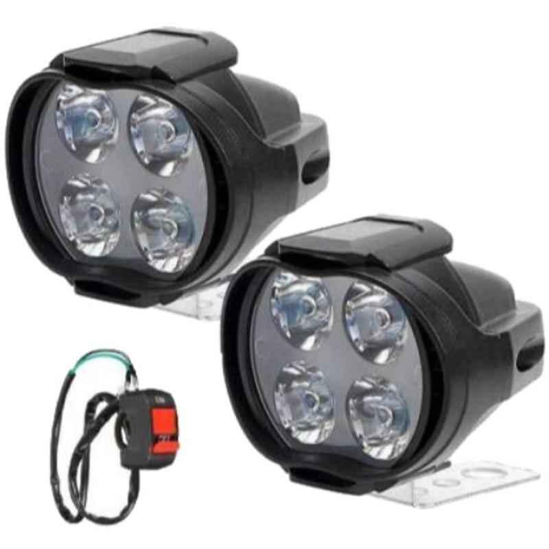 Love4ride 4 Shilon LED Fog Light with Switch for Bike
