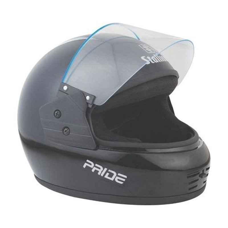 Stallion BLK Pride Black Full Face Motorbike Helmet, Size: M