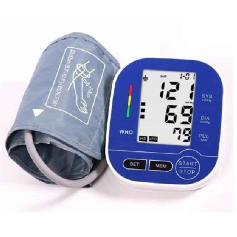 Pristyn Care Blue & White Digital Blood Pressure Monitor