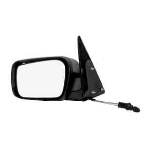 RMC Black Manual Car Left Side View Mirror with Lever for Mahindra Scorpio M Hawk