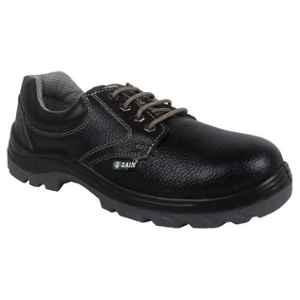 Zain ZM16 Leather Steel Toe Black Safety Shoes, 82312, Size: 10