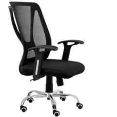 Da Urban Janus Black Medium Back Revolving Office Chair