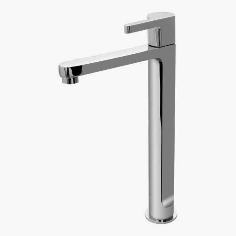 Kerovit Cross 286mm Silver Chrome Finish Tall Pillar Tap, KB1611002