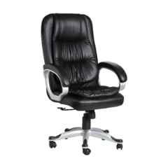 VJ Interior Leatherette Black High Back Executive Chair with Adjustable Height, VJ-426
