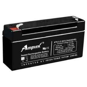 Amptek 6V 4.5Ah Rechargeable SMF Lead Acid Battery, AT6-3.2