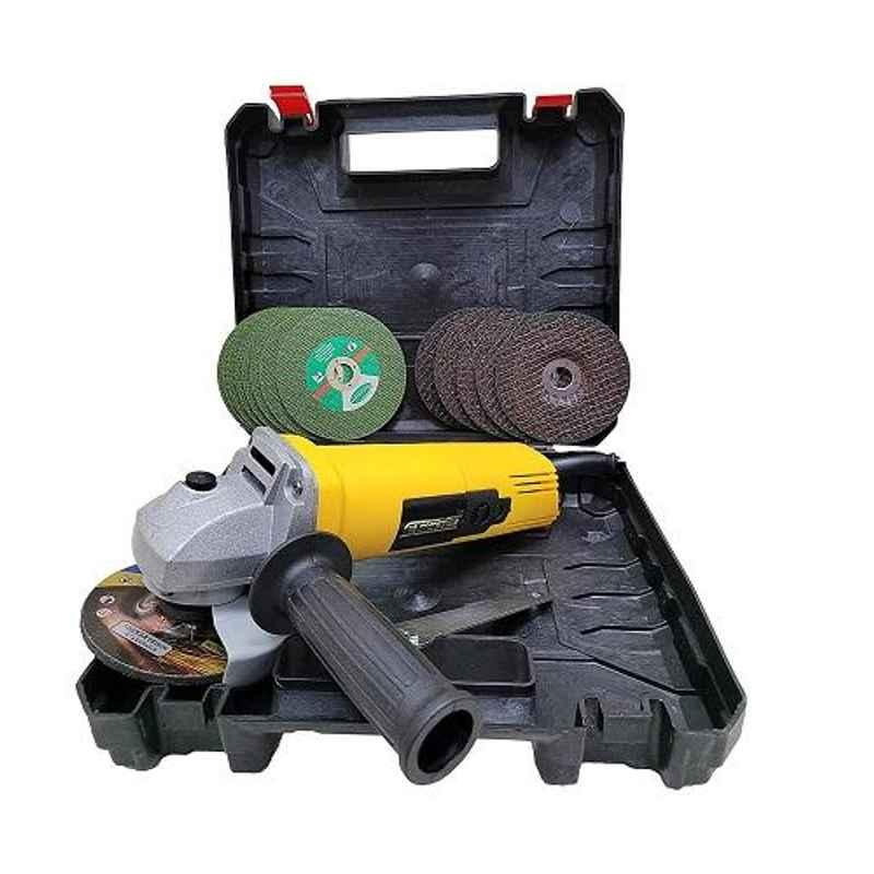 Cheston 100mm 850W Angle Grinder Kit with 5 Pcs Cutting & 5 Pcs Grinding Wheels