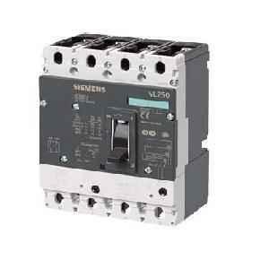 Siemens 4 Pole 200 A MCCB Microprocessor Based Trip Unit 3VL3720-1TA46-0AA0