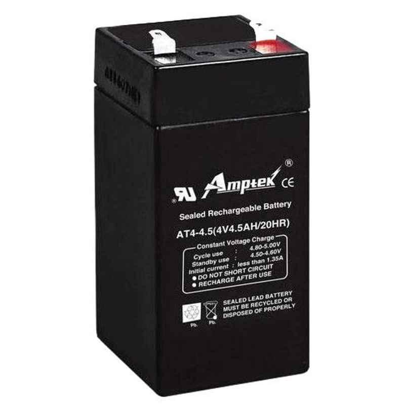 Amptek 4V 4.5Ah Rechargeable SMF Dry Charged Battery