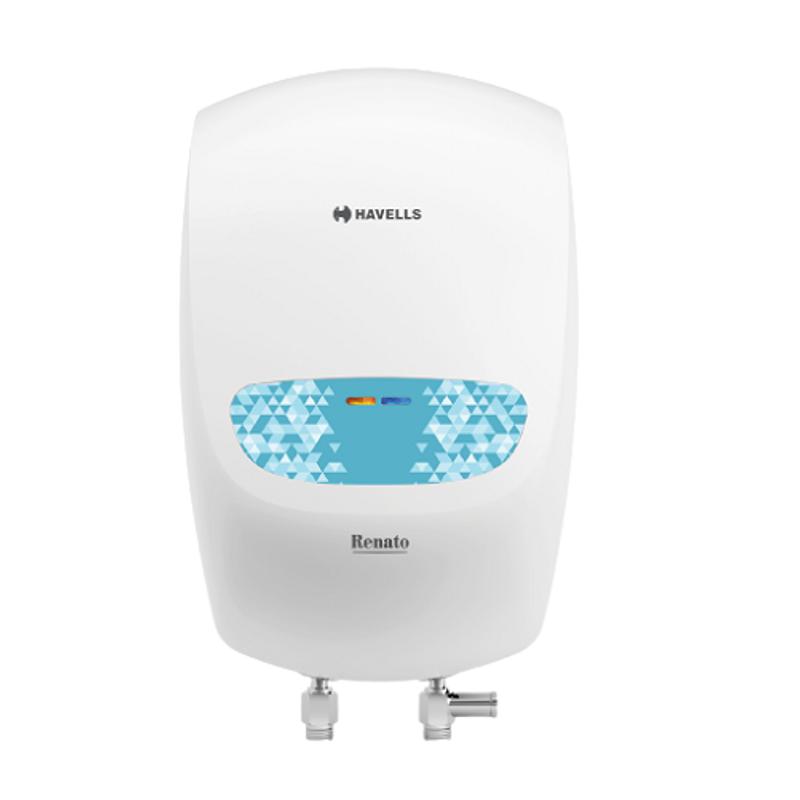 Havells Renato 3L 3000W White & Blue Instant Water Heater, GHWEREPWB003