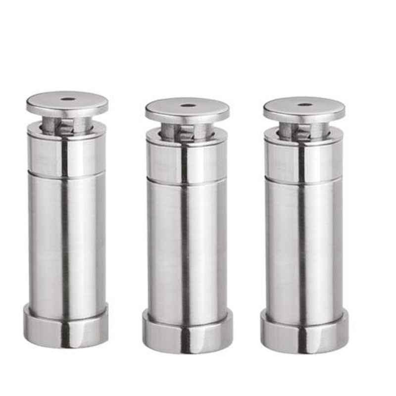 Nixnine Stainless Steel Heavy Duty Magnetic Door Stopper, SS_202_3IN_3PS (Pack of 3)