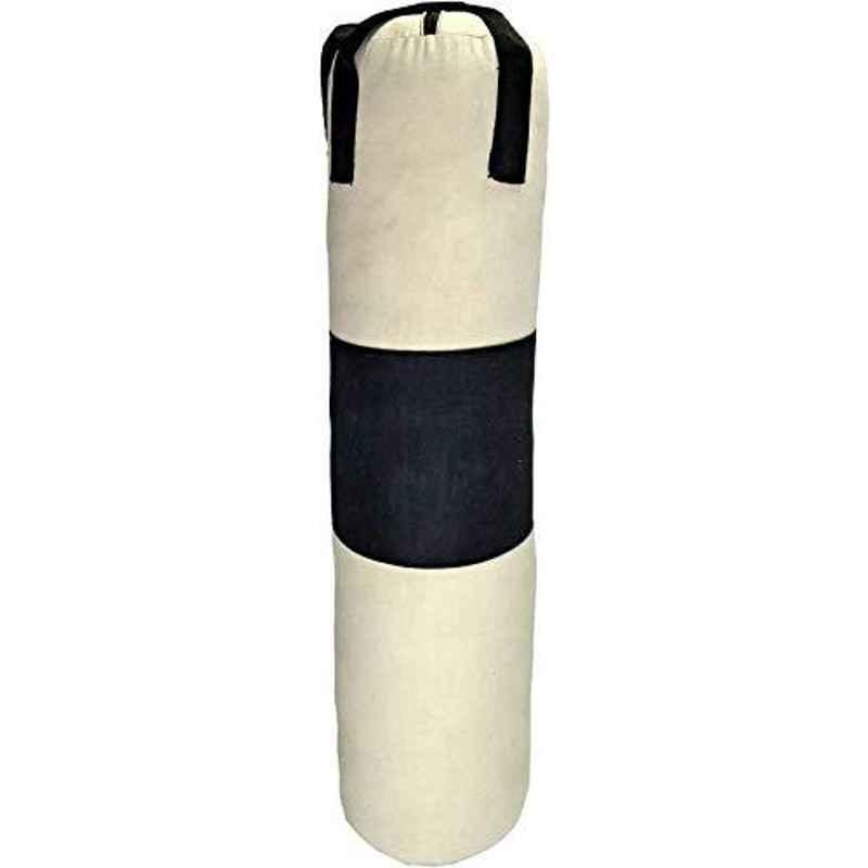 Spanco White & Black Blue Color, Un-Filled, Punching Bag/Boxing Bag/ MMA Bag /Kickboxing Bag/Muay Thai Bag/Takewondo Bag/Judo Bag/Marshal Arts Bag/Karate Bag/Wosho Bag/Punching Bag/Gym Bag/Sand Bag /Kick Bag /Professional Training Bag/Professional Coaching Bag/Fitness Bag/Sports Bag/Home Gym Bag/Carry Bag with Hanging Chain