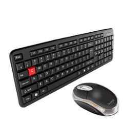 Quantum Black Wired Keyboard & Optical Mouse Combo, QHM7403 & QHM222