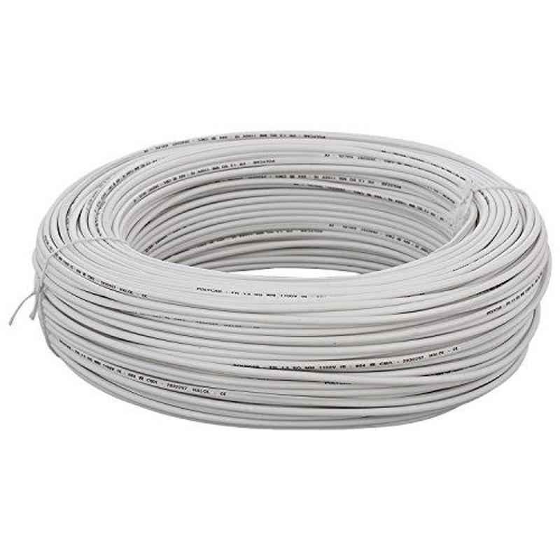 KEI 0.5 Sqmm Single Core Homecab FR White Copper Unsheathed Flexible Cable, Length: 90 m