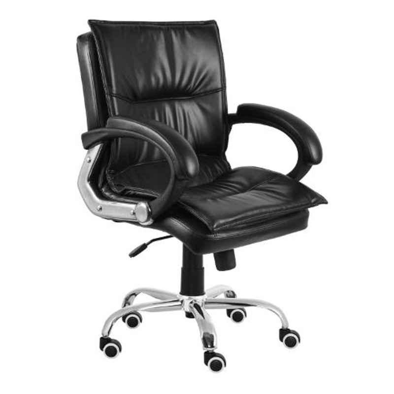 Da Urban Trix Black Medium Back Revolving Office Chair