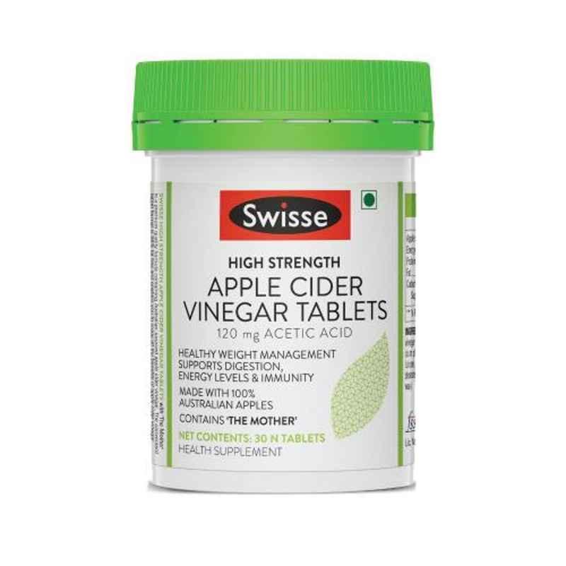 Swisse 30 Pcs High Strength Apple Cider Vinegar Tablets, HHMCH9568700001