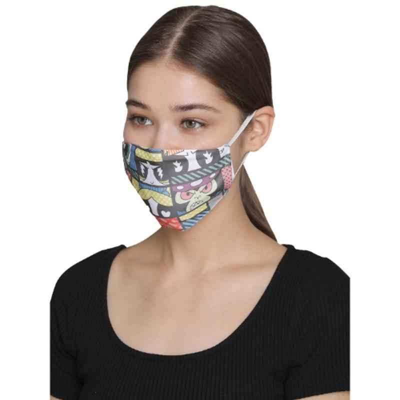 Clovia MASK38P13 3 Ply Washable Printed Multiple Colour Face Mask with Removable Filter
