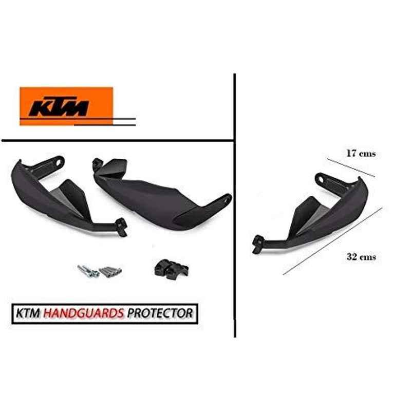AOW Bike Hand Guard Protector Universal for All KTM Models (Pack of 2) Black Colour B-126