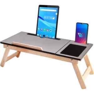 IBS 60.96x22.86x30.48cm Wooden Portable Laptop Table, DKFJDU8787D