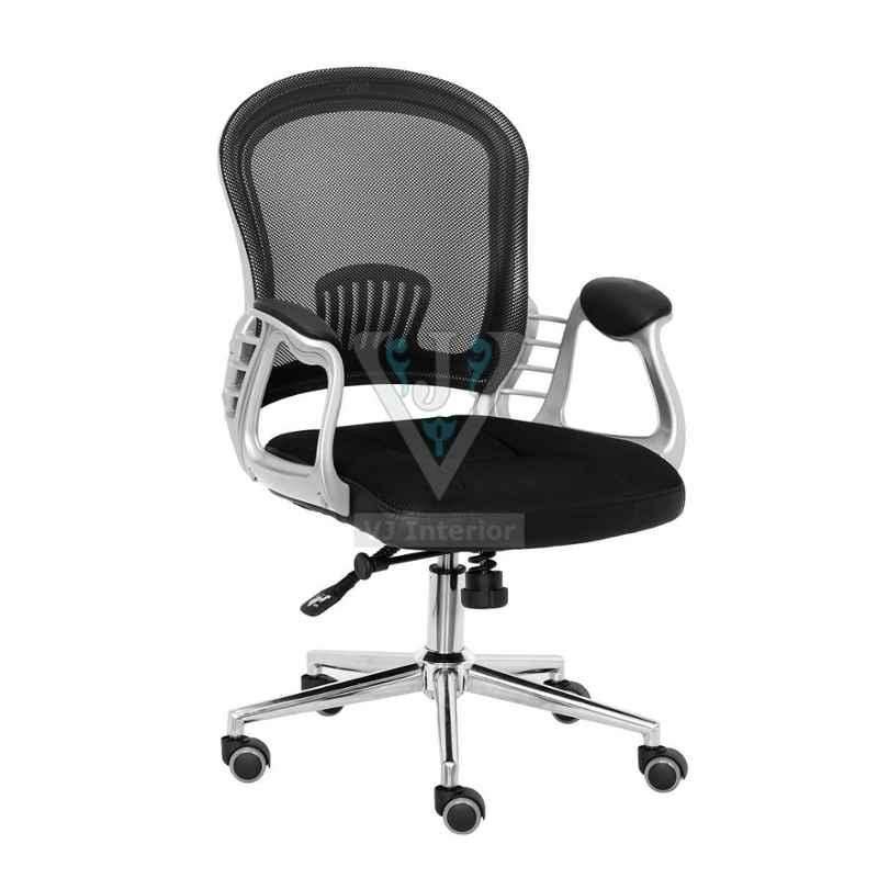 VJ Interior 18 inch Black Mesh Executive Chair, VJ-1003