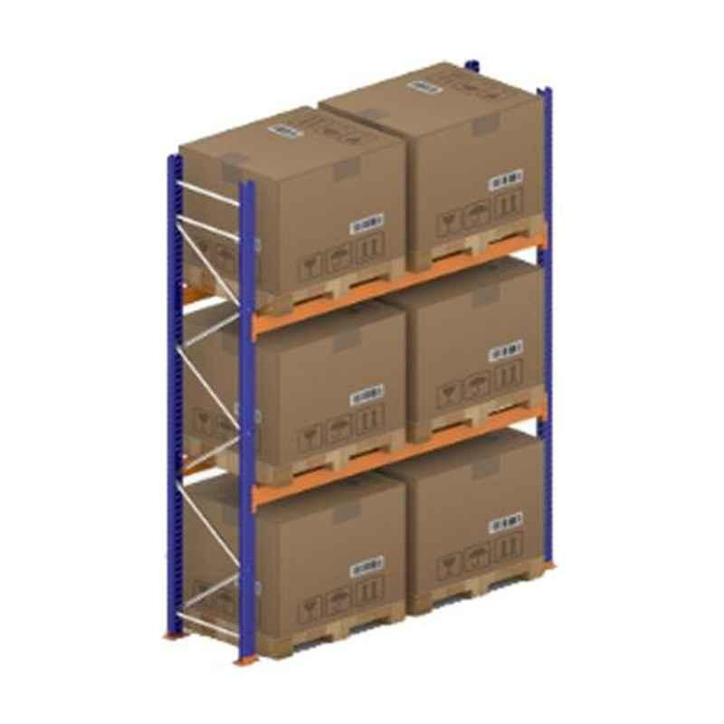 Godrej Ground Plus 2 Layers Steel Selective Pallet Racking, Max Load Capacity: 4000kg, Main Unit: 3500x2700x800mm (HxWxD)