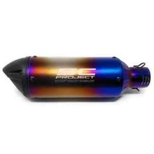 RA Accessories Blue SC Project Mini3 Silencer Exhaust for TVS Star Sport