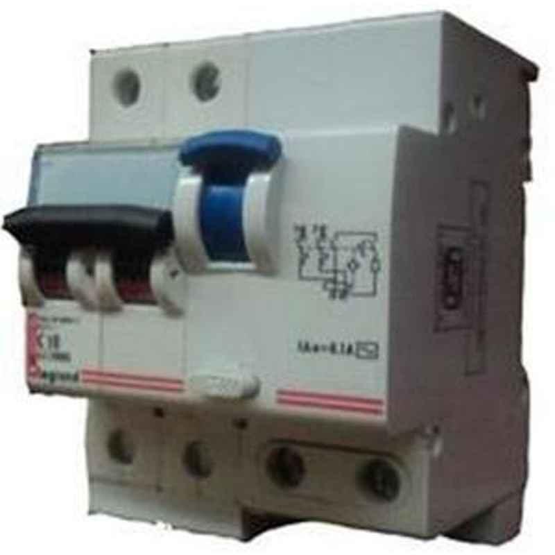 Legrand 63A 2 Pole 100 mA Residual Current Circuit Breaker