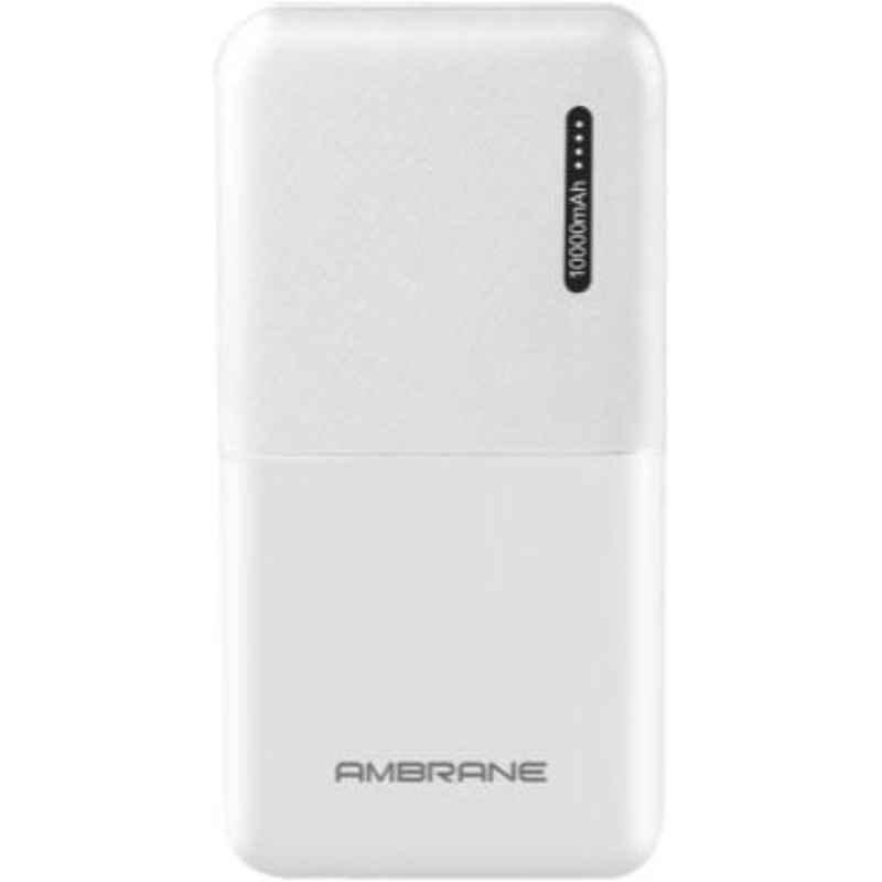 Ambrane PP-111 10000mAh White Li-Polymer Power Bank
