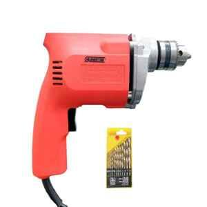 Cheston 10mm 350W Powerful Drill Machine with 13 Pieces HSS Bits