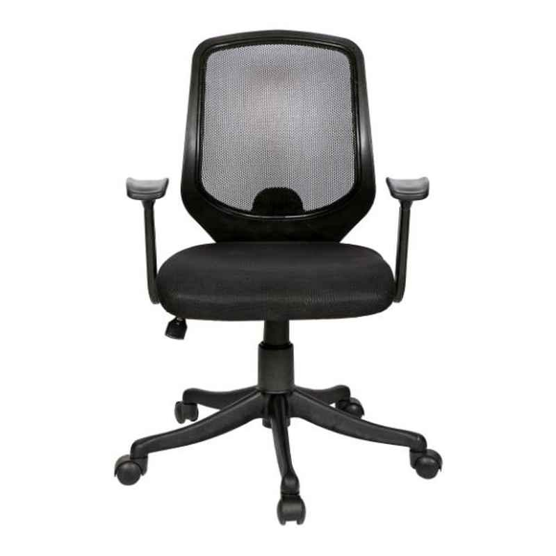 Regent Net & Metal Black Chair with T Type Handle, RSC-130