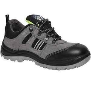 Allen Cooper AC-1156 Antistatic Steel Toe Grey & Black Safety Shoes, Size: 8