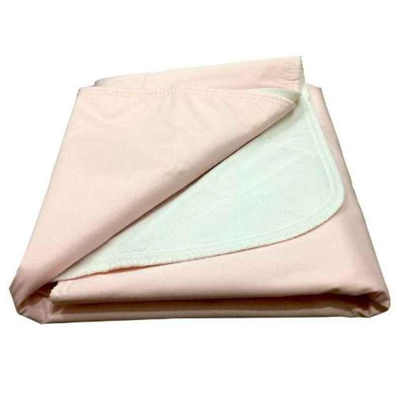 KosmoCare 30x35 inch Pink Brushed Poly Re-Usable Underpad, IRUKBP