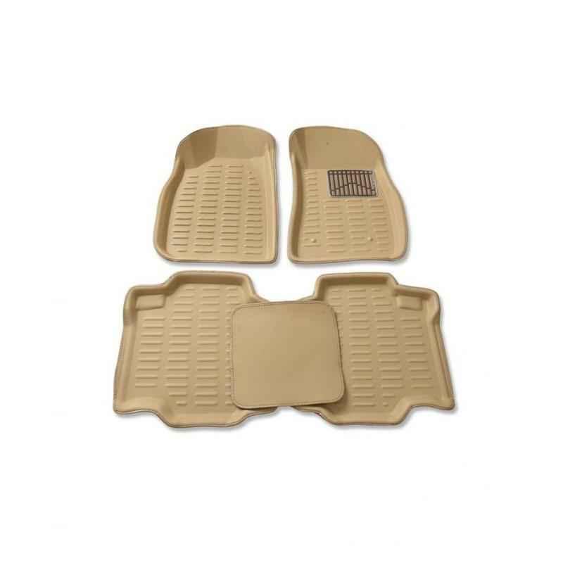 Oscar 3D Beige Foot Mat For Maruti Suzuki Alto K10 Set